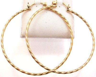 4266: Large Twisted Hoop Earrings