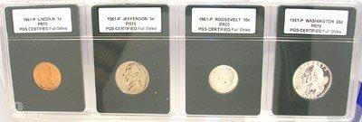 4273: 1961 PR70 slabbed collection