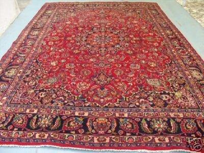 4374: Stunning Large Persian Mashad Rug 13x10