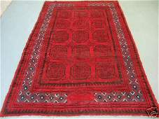 4473: Semi Antique Afghan Kurdish Rug 9x6