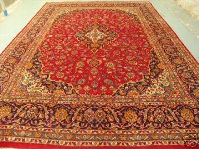 4474: Stunning Large Persian Kashan Rug 13x10