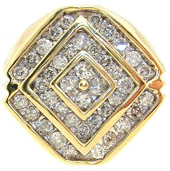 4568: 10KY 2cttw Diamond channel set mans Ring