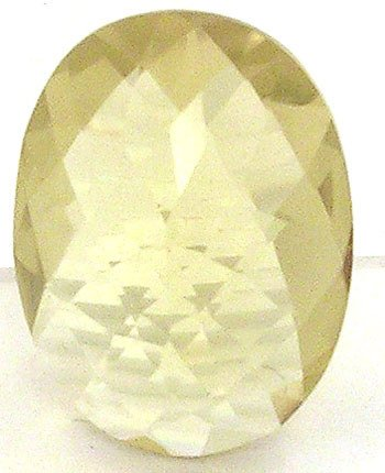 352: 13ct Lemon Citrine Checkerboard Oval cut