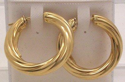 731: 18KY Italian 1979 Earrings