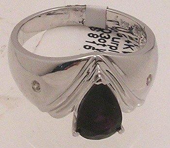739: 14kw 1.57 Purple Spinel .03ct W. Sapp Ring