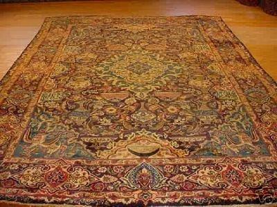 849: SUPER FINE PERSIAN ARCHAEOLOGICAL KASHMAR 8x12