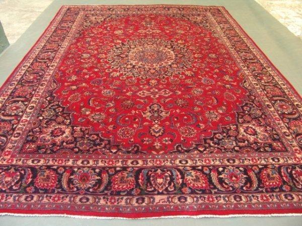 5449: Stunning Large Persian Mashad Rug 13x10
