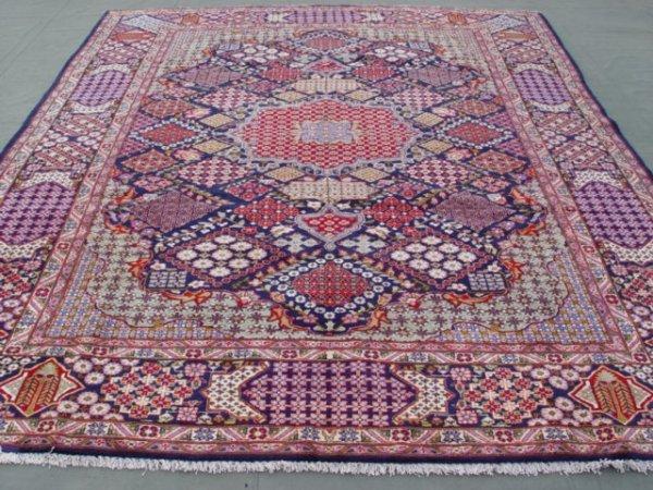 5549: Jewels Semi Antique Persian Birjand Rug 13x10
