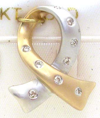 5007: 14KYG .30cttw Diamond Ribbon pendant