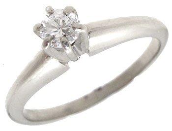 5008: 14KW .20ct Diamond solitaire ring