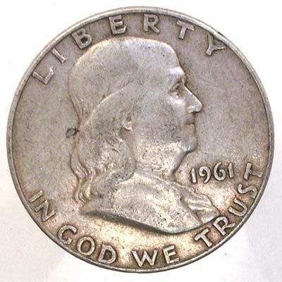 5016: 1961 Franklin Silver Half Dollar