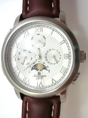 5020: 1912 Aeromatic MOONPHASE Calendarium brown watch