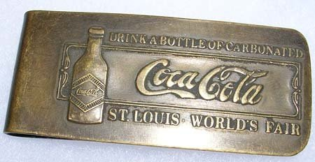 1: TIFFANY COCA COLA WORLDS FAIR MONEY CLIP c. 1904