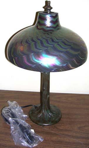 13: Tiffany Luster Lundberg Studios Large Table Lamp