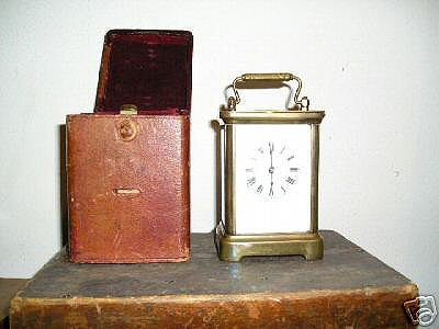 17: Antique WATERBURY Carriage Clock