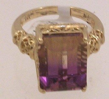 2407: 14KY Ametrine E-cut Filligree Ring