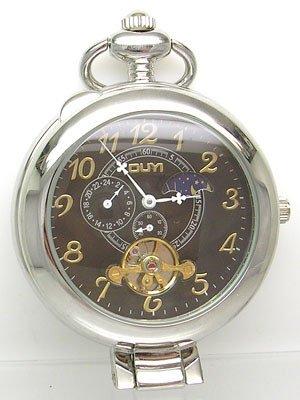 2819: P0605 Mechanical Chrono POCKET WATCH w/Day/Night