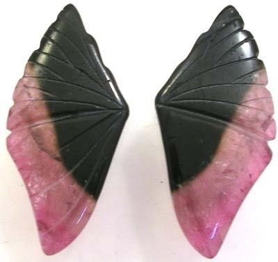 3403: Bi-Color Tourmaline Butterfly Wings 25.2carats