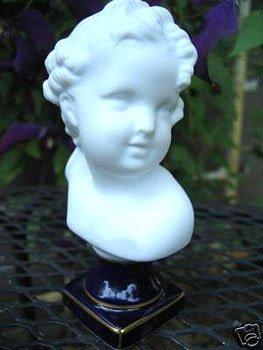 3422: Antique! Limoges Porcelain Bust of Child Bisque P