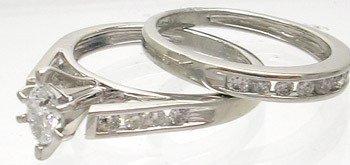 3463: Platinum 950 .45ctw Diamond Marquise Bridal Ring