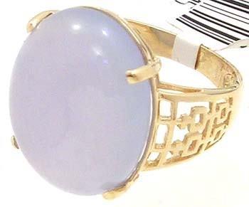 3804: 14KY Lavender Jade 18x13mm ring