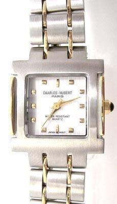 3821: Charles-Hubert 2 tone square dial ladies watch
