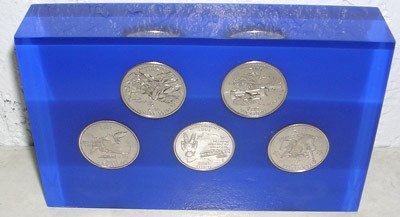 3822: 2002 State Quarter Paperweight (presentation box)