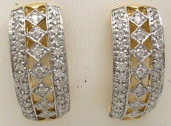 4414: 10KY .50ct Diamond Round Filligree Earring