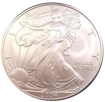 841: SILVER DOLLAR 2004-P AMERICAN EAGLE MS70