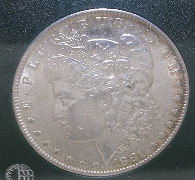 842: MORGAN 1881 SILVER DOLLAR