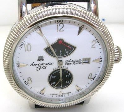 845: Aeromatic 1912 Chrono White Dial Black Band