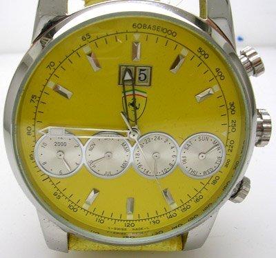 846: FERRARl 4 Chrono Automatic Yellow Watch Yellow str
