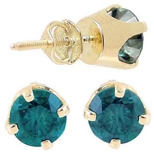 1.52ctw Blue Diamond screwback Stud Earrin