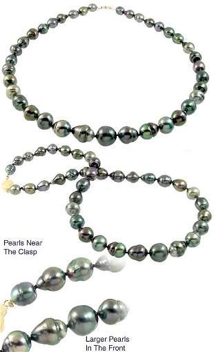 8.5/13mm Tahitian 37 pearl circlé necklac