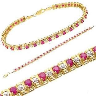 1cttw Ruby Diamond Rolax Style Bracelet