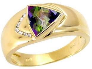 1.50ct mystic topaz trillion .05dia ring