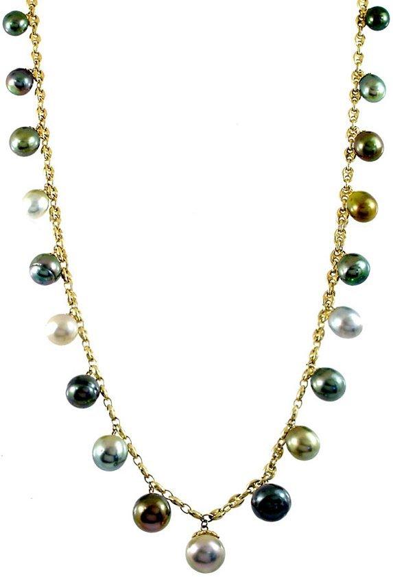 1099: 14kt 9/12mm Tahitian 19 pearl Gucci 16i