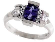1124 18WG 1ct Purple Sapphire Sapp BaggDiam