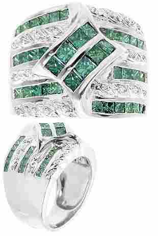 14k wg 14gram 2.15c Diamond Mens Ring Band