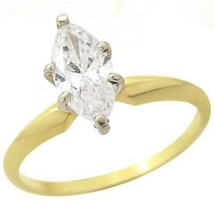 .14k 89ct marquise diamond SI1-2 H-I ring