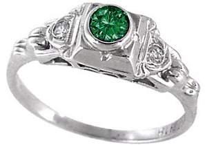 18KWG .30ct Blue Diamond Esate Ring