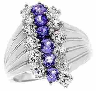 14K WG 2ct Tanzanite White Sapphire ring