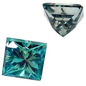 67: 1.48 Carat Princess Cut BLUE DIAMOND Loos