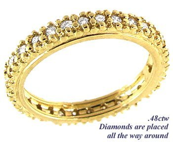 1002: .50cttw diamond eternity band