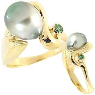 light Tahitian pearl green dia bezel ri