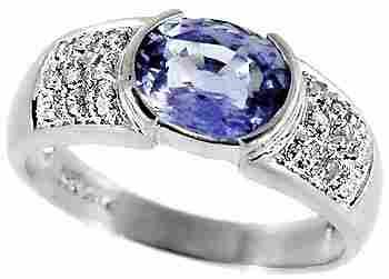 1018: WG 1.85ct Ceylon Sapphire bezel .13 dia