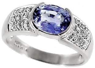 WG 1.85ct Ceylon Sapphire bezel .13 dia