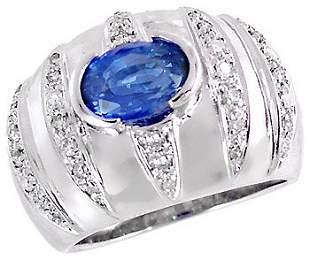 WG 1.95ct Ceylon Sapphire .35dia dome b