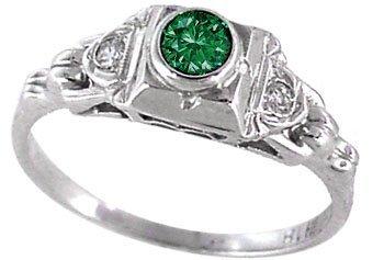 2003: 18KWG .30ct Blue Diamond Esate Ring