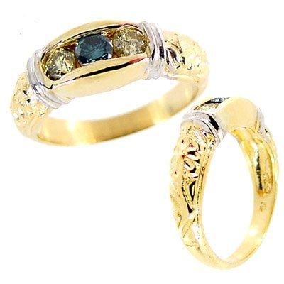 2004: .50t Teal Canary 3 diamond heritage ban
